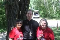 Bishop Folda visits camp