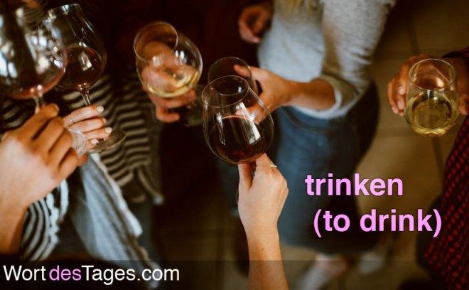Ich trinke nur mit Freunden.