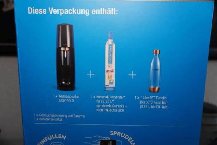 SodaStream Easy Verpackungsinhalt