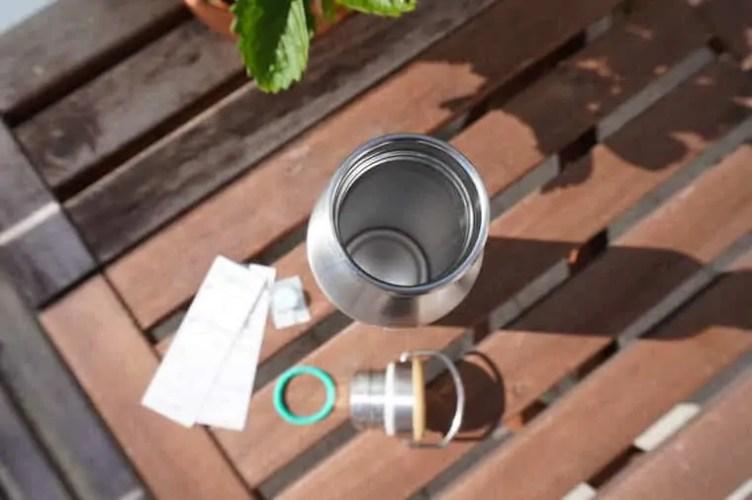 Freigeist Edelstahl Flasche Trinköffnung