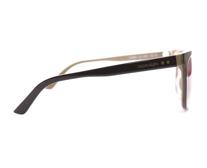 Calvin Klein CK19503S Sunglasses in Dark Brown/Beige