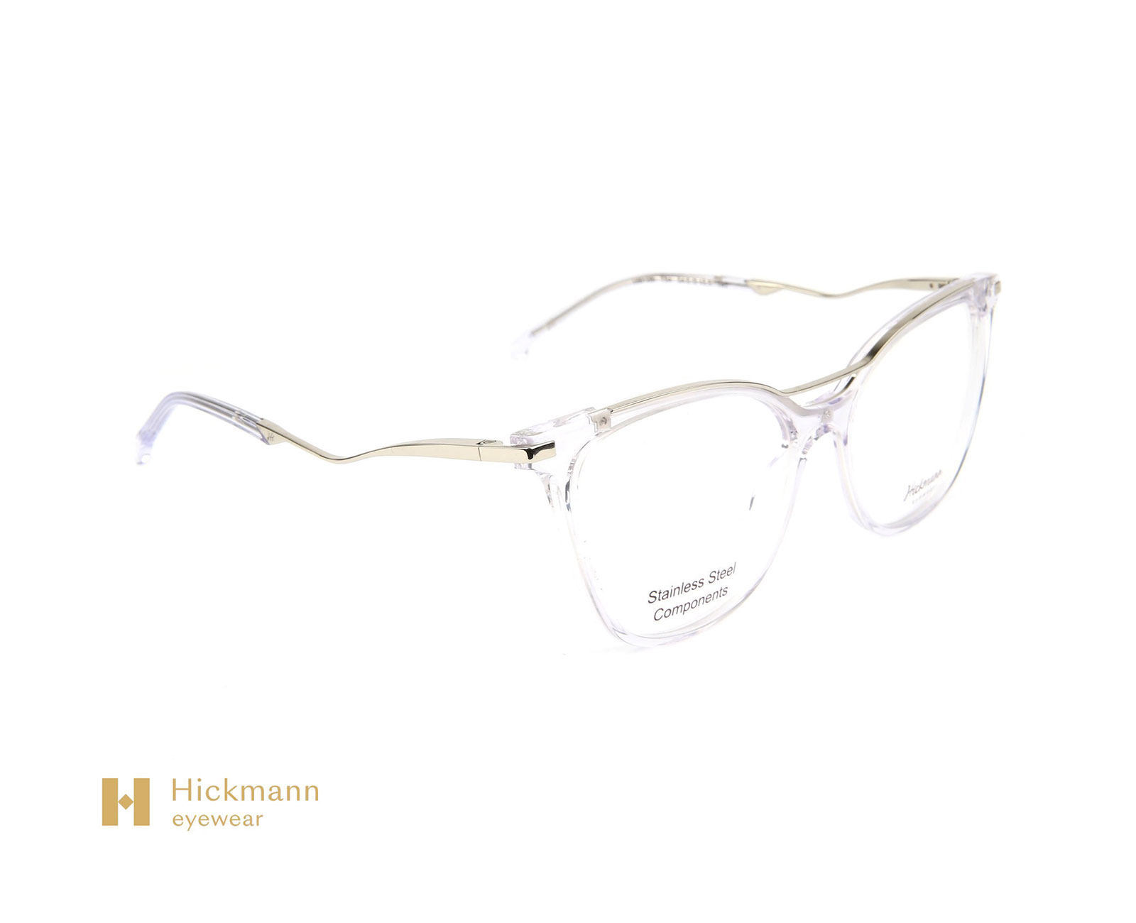 Hickmann Eyewear HI6128 in Transparent White