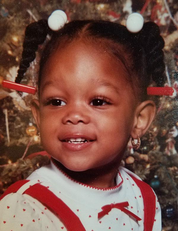 Trin Perkins as a baby