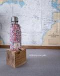 Bouteille isotherme Qwetch 260 ml & pochette de transport - Liberty - Wilshire rose pâle