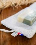 Pochette à savon en coton enduit - Trinquette Artisanat