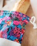 Sac à baguette - Ciara - Lin et coton Liberty Trinquette Artisanat