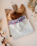 Sac à pain - Bleu et rouge - Trinquette Artisanat - Coton Liberty
