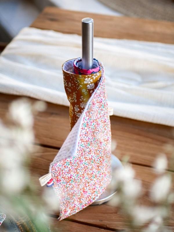 Rouleau essuie-tout en tissu - Trinquette Artisanat