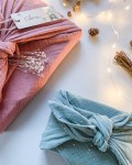 "Furoshiki ""Bogota"" emballage écologique en tissu réutilisable"