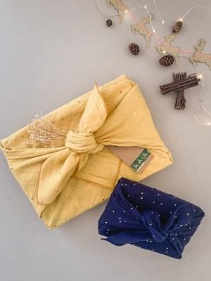 """Furoshiki """"Katmandou"""" emballage écologique en tissu réutilisable"""