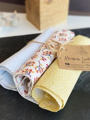 Mouchoirs en tissu 100% coton bio - Trinquette Artisanat