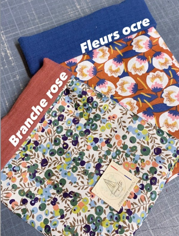 Pochettes à livre en tissu trinquette