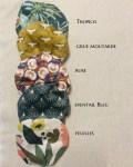 Choix des coloris charlottes à plat - Trinquette Artisanat