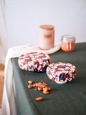 Couvre plat réutilisable - Rose - Trinquette Artisanat - Coton enduit