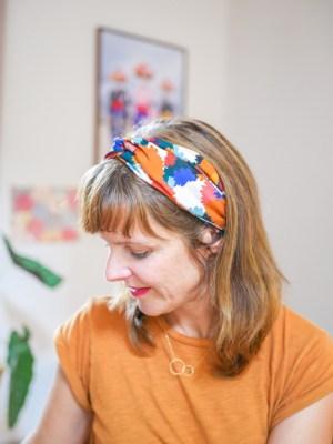 Bandeau cheveux - Trinquette Artisanat - Coloris Bouquet d'automne'