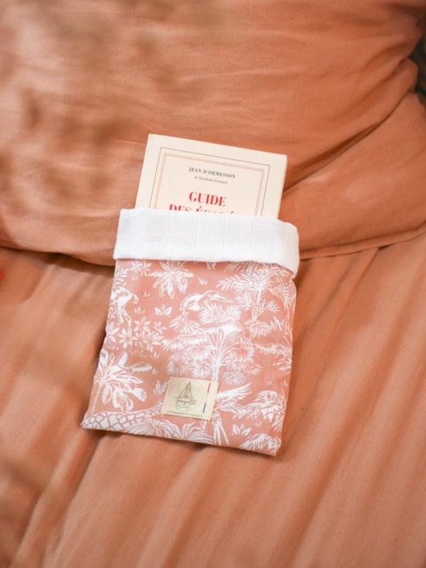 Pochette à livre en tissu petit format - Trinquette Artisanat