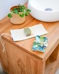 Pochette à savon en coton enduit, coloris Tropico - Trinquette Artisanat