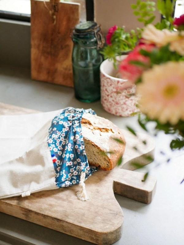 Sac à pain - Liberty Bleu - Trinquette Artisanat - Coton Liberty