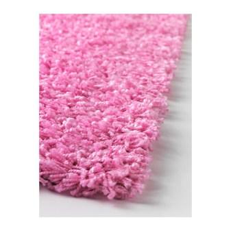 Ikea alfombra rosa