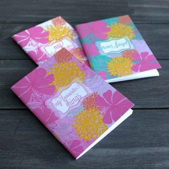 mini libretas de flores
