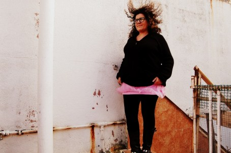 falda rosa de tul