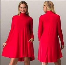 vestido rojo talla grande