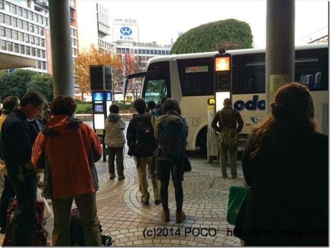 新宿から金時山のバス