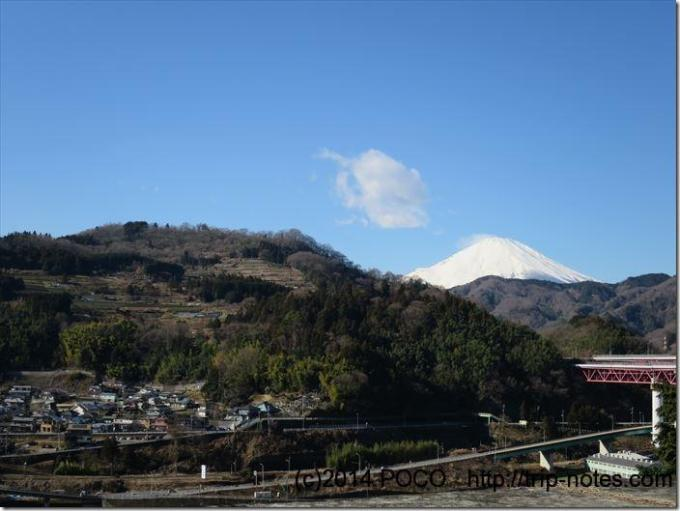 横目に富士山