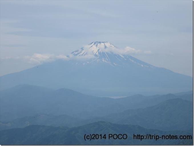 檜洞丸展望台からの富士山