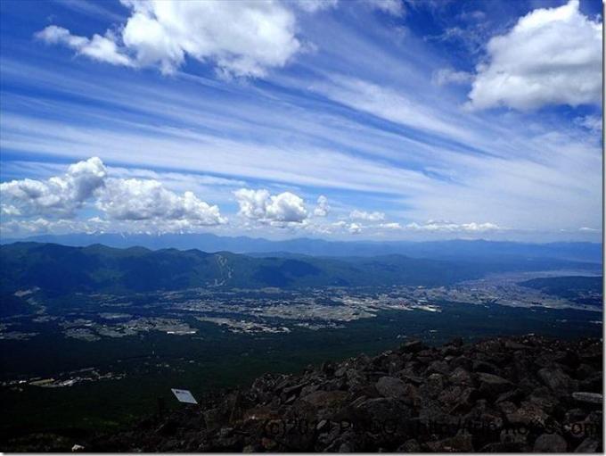 編笠山からの眺望