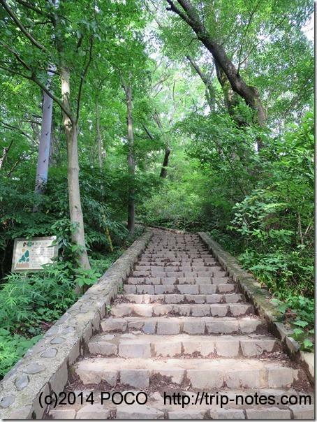 高尾山への階段