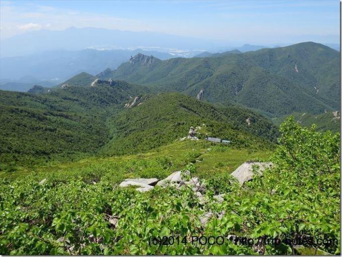 金峰山小屋への道