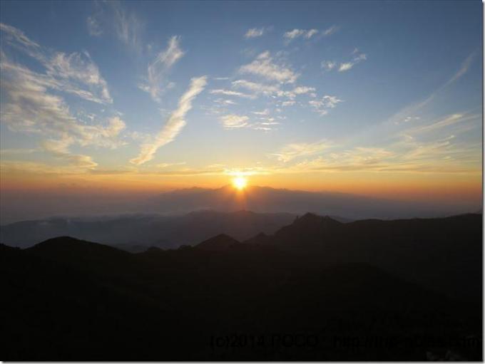 金峰山夕日