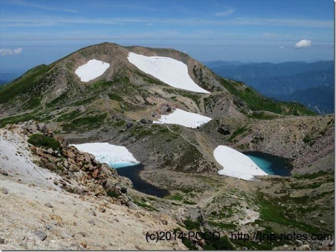 白山の雪渓