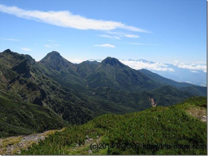 硫黄岳からの眺望