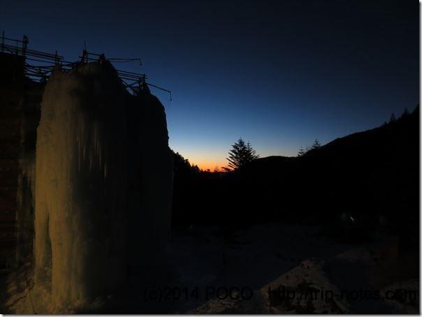 赤岳鉱泉テン場と夕焼けとアイスキャンディ