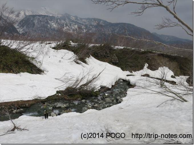 白馬鑓温泉下山