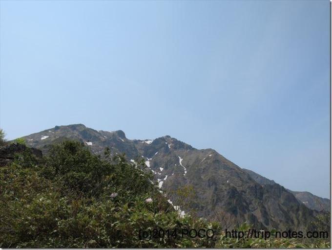 西黒尾根から谷川岳山頂