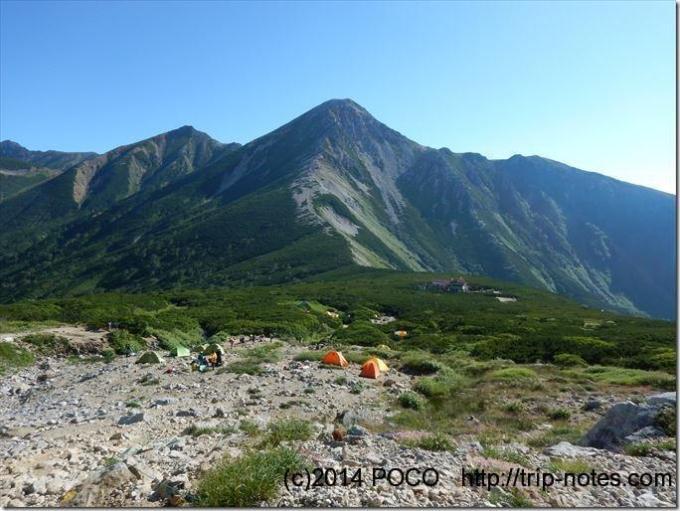 三俣山荘のテン場