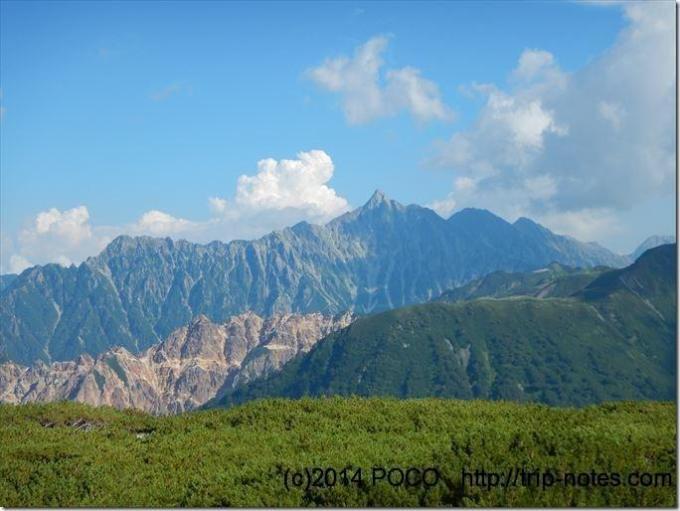 三俣山荘からの槍ヶ岳