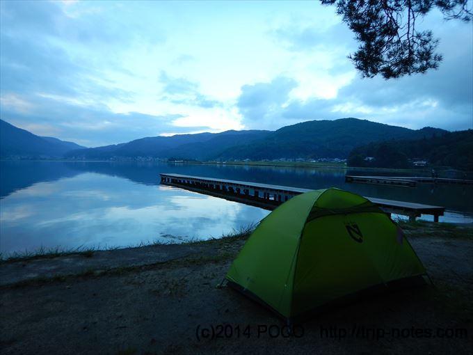 木崎湖キャンプ場のフリーサイト