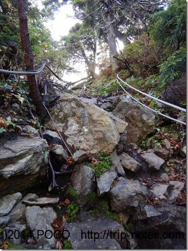 笠ヶ岳登山道