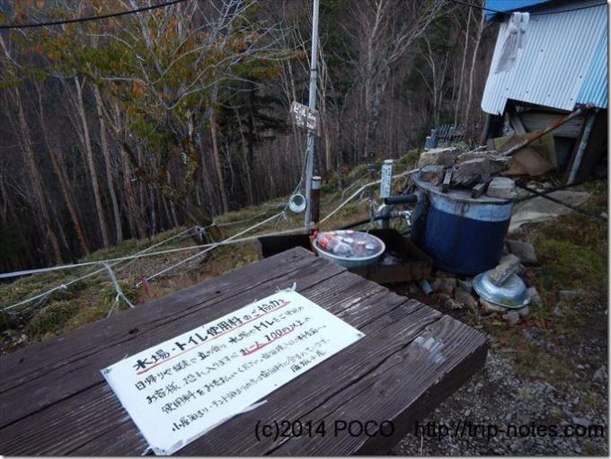 雁坂小屋の水場