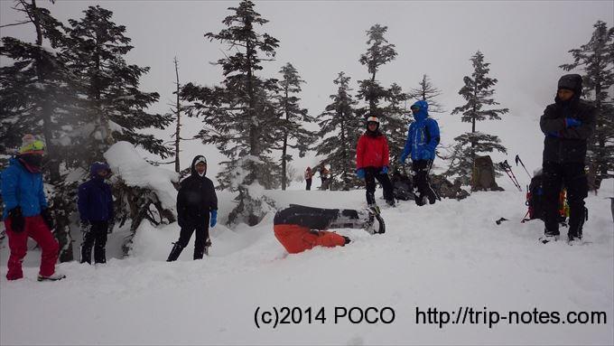 武尊山雪山登山
