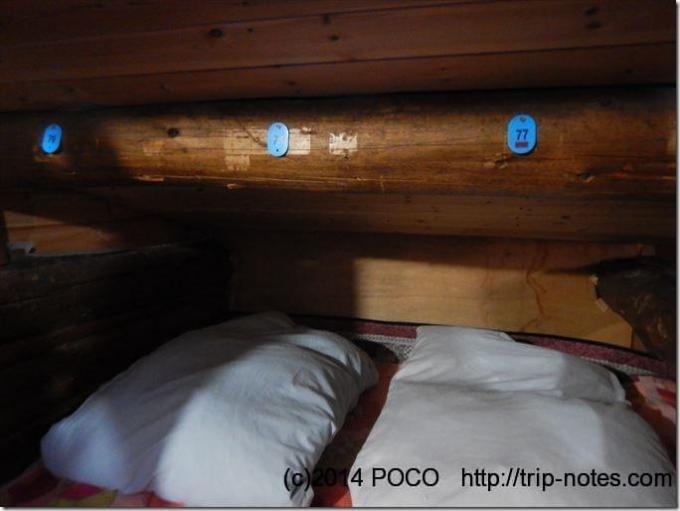 南御室小屋の寝室