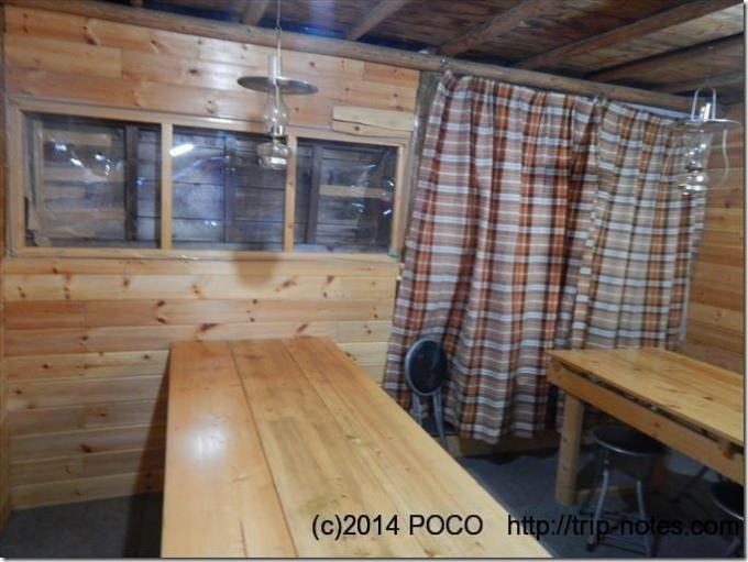南御室小屋の食堂