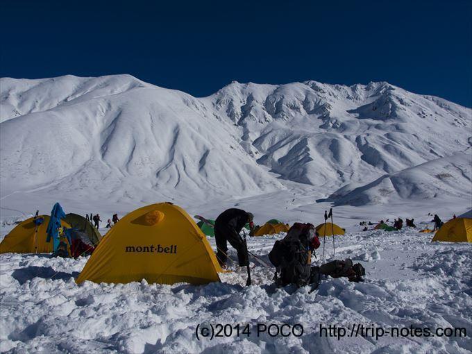 雪山テント泊