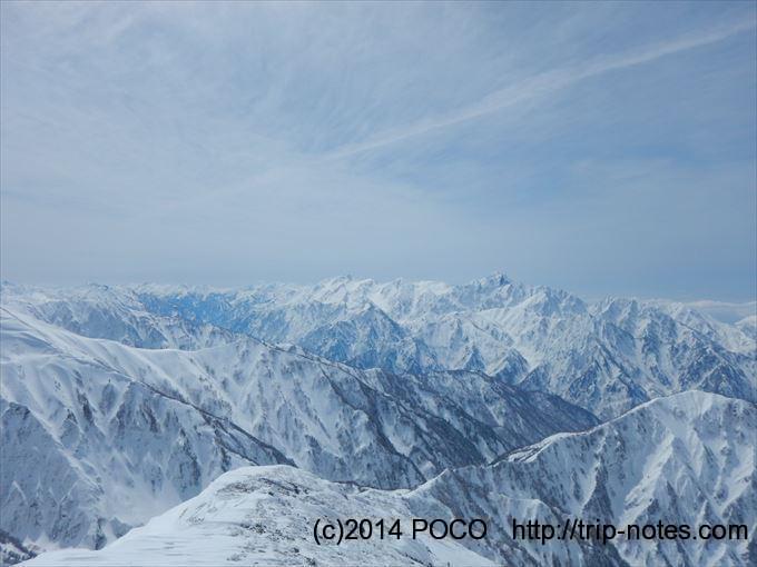 唐松岳からの眺望