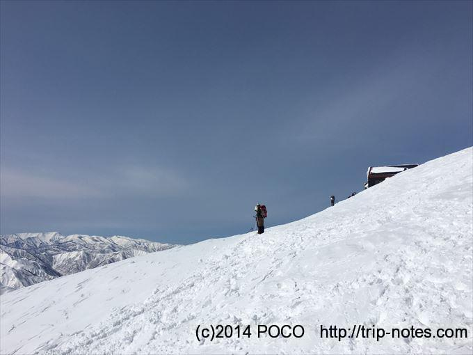 谷川岳雪山登山 肩の小屋