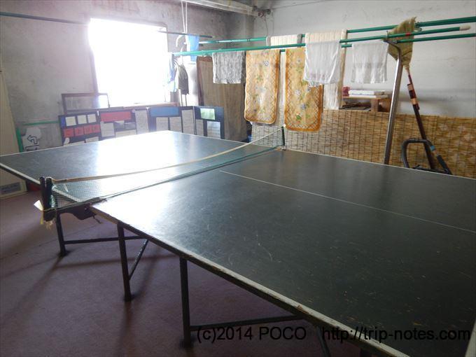 雷鳥沢ヒュッテの卓球台